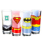 Set 4 Bicchieri Justice League Of America - Justice League