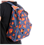 Superman - Pattern Logo Backpack (Zaino)