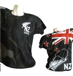 All Blacks Nuova Zelanda T-SHIRT Kiwi FULL-PRINT