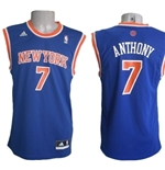 New York Knicks Canotta Anthony Azzurra