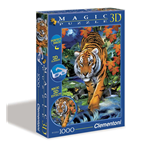 Puzzle - Magic 3D 1000 Pz - Tigre A Caccia