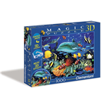 Puzzle - Magic 3D 1000 Pz - Scogliera Con Delfino