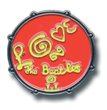 Beatles (The) - Medium Drum Love Logo Red (Spilla Badge)
