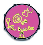 Beatles (The) - Drum Love Logo Pink (Spilla Badge)