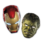 Avengers - Age Of Ultron - 6 Maschere Hulk / Iron Man