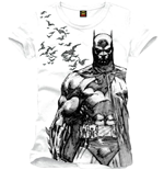 Batman - Bat Fly White (T-SHIRT Uomo )