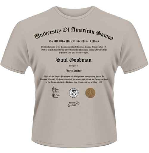 Better Call Saul - University Certificate (unisex )