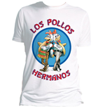 Breaking Bad - Los Pollos Hermanos (WHITE) (T-SHIRT Uomo )