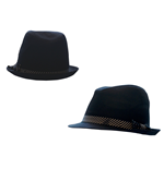 Free Authority - Black Fedora Striped Band (cappellino)