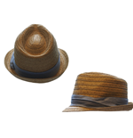 Cappello Free Authority - Straw Fedora Tri-color Band