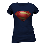 Superman Man Of Steel - Textured Logo (T-SHIRT Donna )