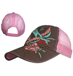 Miami Ink - Pink Trucker Bird & Flower (cappellino)