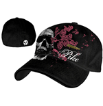 Pike - Black Flex Cap W/ Skull & Bullet Patch (cappellino)