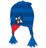 Sonic - Blue Striped Beanie With Poms (Berretto)