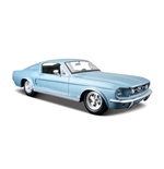 Maisto - Ford Mustang Gt 1967 Vintage 1:24 (Blu / Rosso)