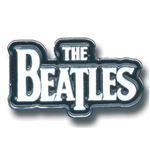 Beatles (The) - Medium Drop T Logo White (Spilla Badge)