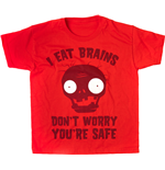 Plants Vs Zombies - I Eat Brains (Red) (T-Shirt Bambino )