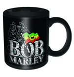 Bob Marley - Distressed Logo Black (Tazza)