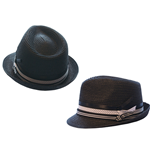 Free Authority - Black With Three Ribbon Bands (Cappellino)