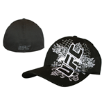Ufc - Black With White Skull Flex Cap (cappellino)
