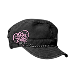 Pussycat Dolls - Relax Black Cadet With Chain (Cappellino)