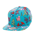 Pokemon - Characters All Over Snapback (cappellino)