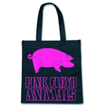 Eco Borsa Pink Floyd - Animal Logo On Black