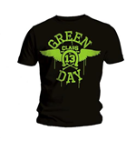 T-shirt Green Day Neon Black