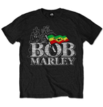 T-shirt Bob Marley Distressed Logo