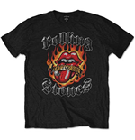 T-shirt The Rolling Stones Flaming Tattoo Tongue