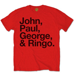 T-shirt The Beatles John, Paul, George & Ringo