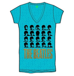 T-shirt The Beatles da donna Hard Days Night Faces