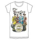T-shirt The Beatles da donna Sgt Pepper Band & Drum