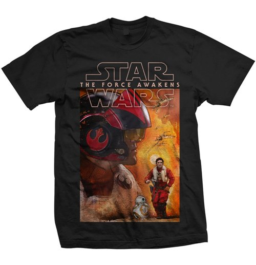 T-shirt Star Wars Dameron Composition