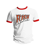 T-shirt Queen  Flash White and Red Ringer