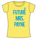 T-shirt One Direction da donna Future Mrs Payne