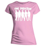T-shirt One Direction da donna Silhouette White on Pink