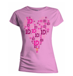 T-shirt One Direction da donna Heart Logo