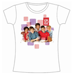 T-shirt One Direction da donna 1D Squares Group