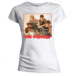 T-shirt One Direction da donna Band Red Border