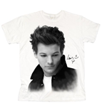 T-shirt One Direction da donna Louis Solo B&W