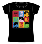 T-shirt One Direction da donna 9 Squares