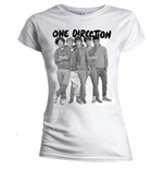 T-shirt One Direction da donna Group Standing Black & White
