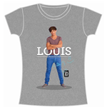 T-shirt One Direction da donna Louis Standing Pose