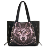 Wolf Dreams Tote Bag - Top Quality Pu Leather Studded (Borsa)