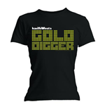 T-shirt Kanye West da donna Gold Digger