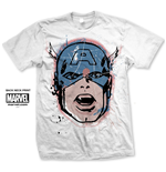 T-shirt Captain America Capt. America Big Head Distressed