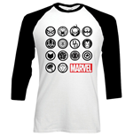 T-shirt manica lunga Marvel Superheroes Marvel Icons