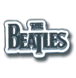 Beatles (The) - Medium Drop T Logo Black (Spilla Badge)