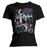 T-shirt R5 da donna Grunge Collage